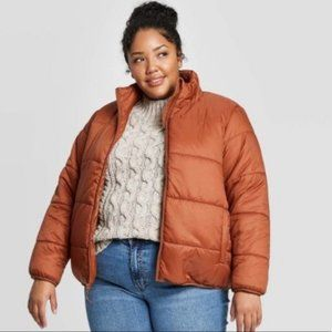 Universal Thread Brown Puffer Jacket